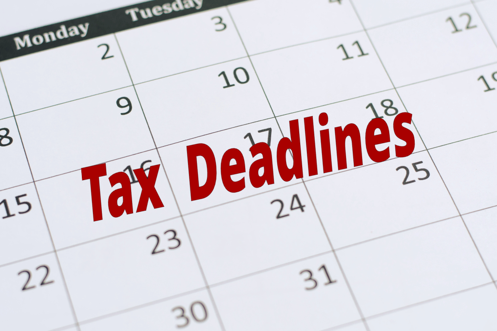 2020 Tax Deadlines and Dates