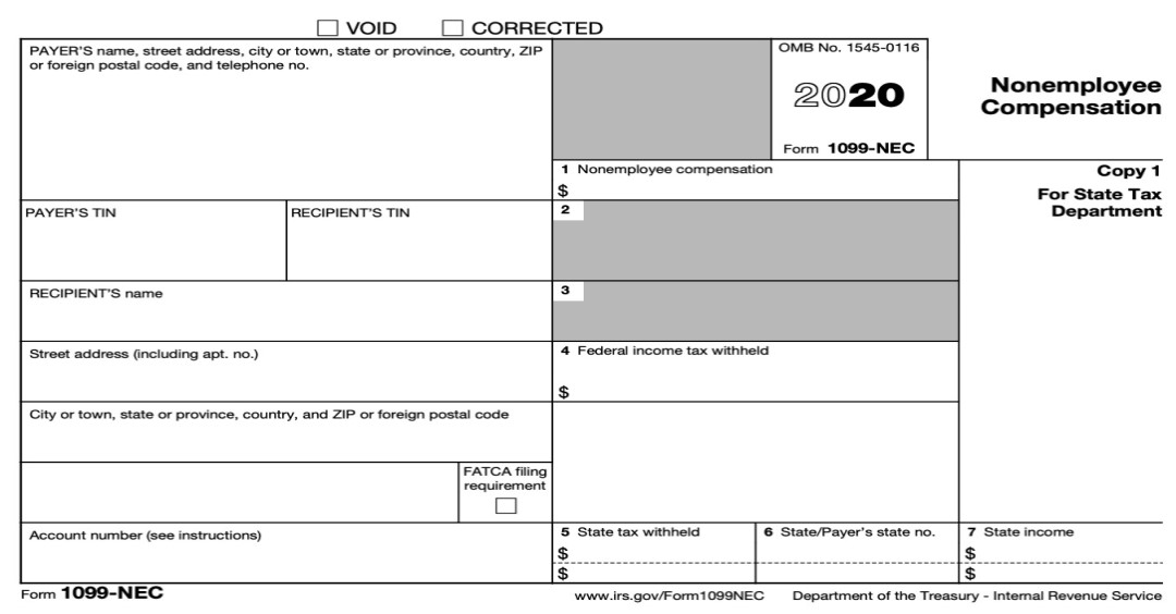 New 1099 NEC Form 2021